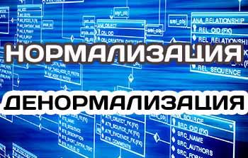 Нормализация и денормализация базы данных, нормальные формы