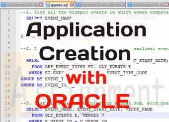 Application creation with Oracle