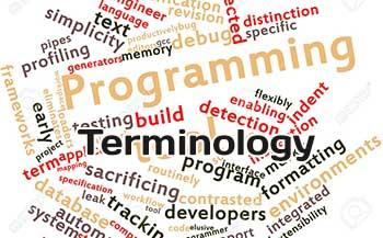Main programming terms