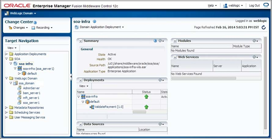 Oracle Enterprise Manager Fusion Middleware Control 12c