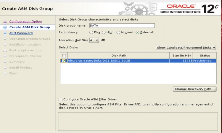Oracle Grid Infrastructure Installation on Linux