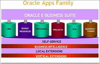 Oracle E-Business Suite ERP Applications family