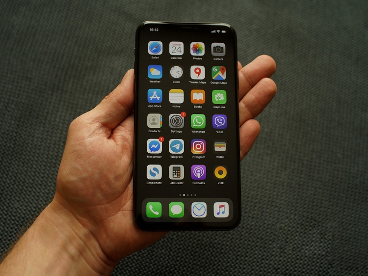 iPhone 11 Pro Maxin hand