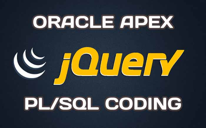 Using jQuery for Oracle APEX PL/SQL coding
