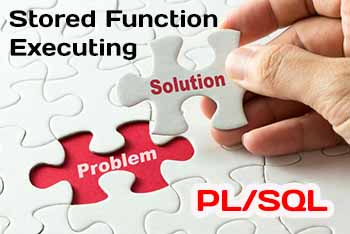 PL/SQL Stored Function Executing