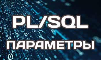 Использование параметров в PL/SQL на примерах