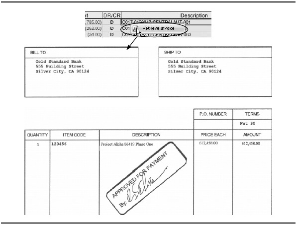Accounts payable posting and invoice