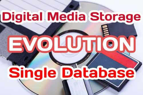 Single databases using for store and managment of Digital Media Storage
