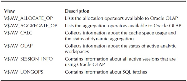 Oracle OLAP Views