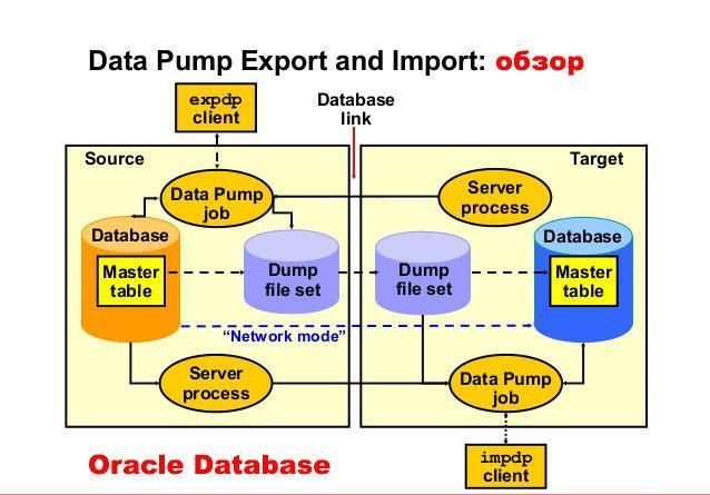 Импорт и экспорт таблиц, файлов через Data Pump Export и