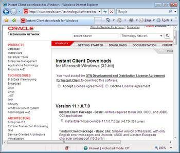 Oracle Instant Client