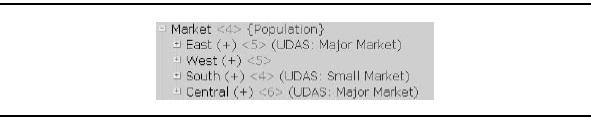 User-defined attributes are identified with the UDA tag