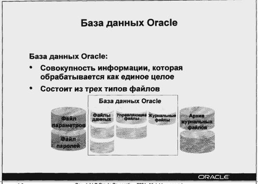 База данных Oracle - элементы
