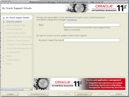 Oracle Enterprise Manager Grid Control 11gR1 Installation - Step 1 of 13