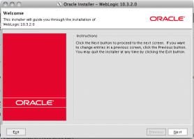 Oracle Installer - Weblogic 10.3.2.0