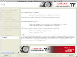 Oracle Enterprise Manager Grid Control 11gR1 Installation - Step 13 of 13