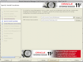 Oracle Enterprise Manager Grid Control 11gR1 Installation - Step 5 of 13