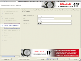 Oracle Enterprise Manager Grid Control 11gR1 Installation - Step 7 of 13