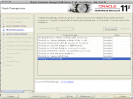 Oracle Enterprise Manager Grid Control 11gR1 Installation - Step 4 of 13