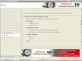 Oracle Enterprise Manager Grid Control 11gR1 Installation - Step 11 of 13