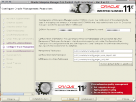 Oracle Enterprise Manager Grid Control 11gR1 Installation - Step 8 of 13