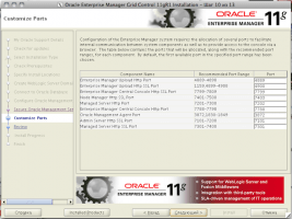 Oracle Enterprise Manager Grid Control 11gR1 Installation - Step 10 of 13