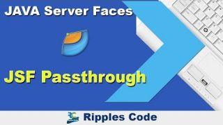 Как использовать Passthrough фреймворка JSF в Netbeans IDE